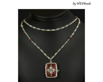 Princess Natalia's Locket - A Beadwoven Necklace Tutorial