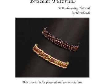 Twin Flat Spiral Bracelet Tutorial