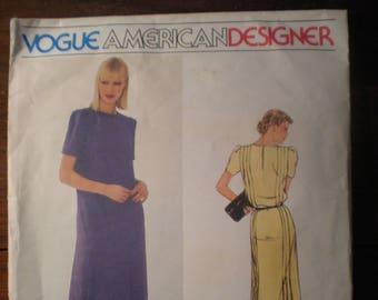 Vintage Vogue American Designer Original Jerry Silverman 2454 Dress Pattern