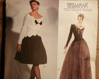 Vintage Vogue Designer Original  Bellville Sassoon 1015 Dress Pattern FF