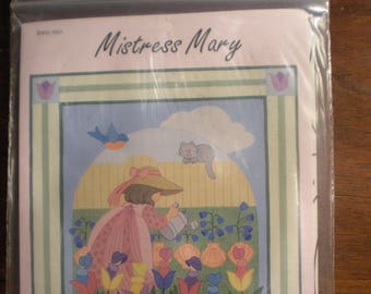 Mistress Mary Nursery Rhyme applique Wallhanging Pattern by Brandywine Design