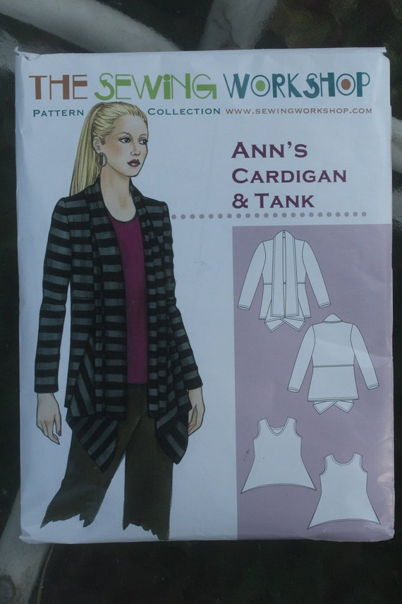 Sewing Workshop Anns Cardigan And Tank Pattern Etsy
