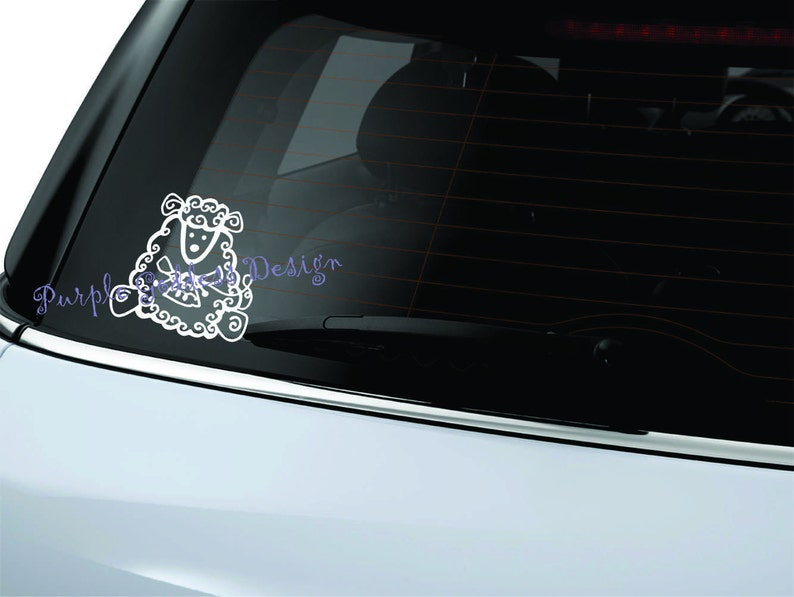 Knitting Sheep Decal Sticker image 0