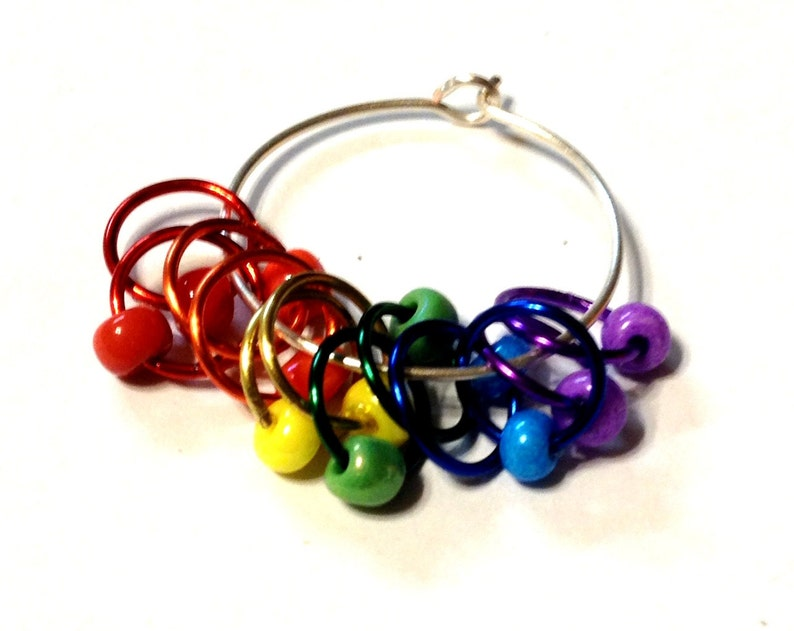The FULL MONTY RAINBOW Snagless Stitch Markers image 0