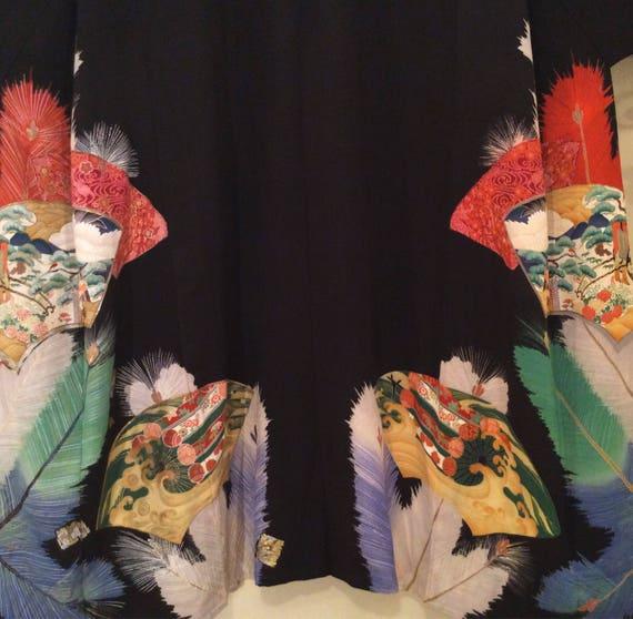 Elegant vintage womans kimono, boho chic