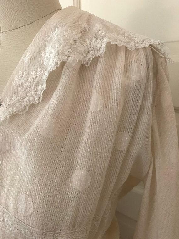 Darling Polka dot Edwardian 1910s Cotton Lawn Dres