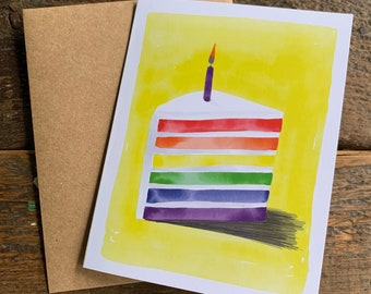 Rainbow Cake Card