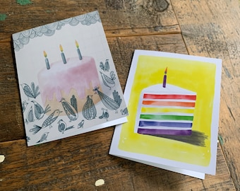 6 Pack of Assorted Birthday Cards