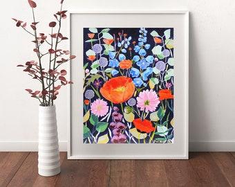 Meadow 1, Flowers, Orginal Painting, Wall Art