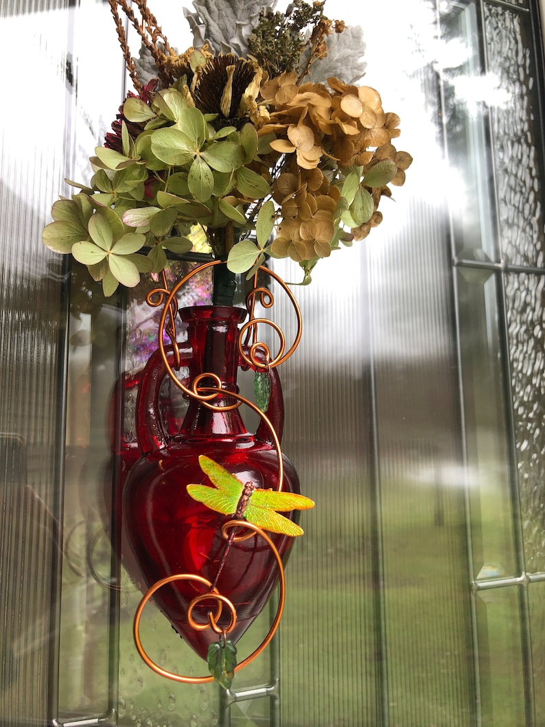 Valentine Gift Vase with Flowers Hanging Window Rooter and image 0
