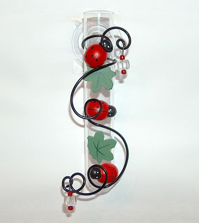 Ladybug Gift Vase for Gardener with Suction Cup image 0