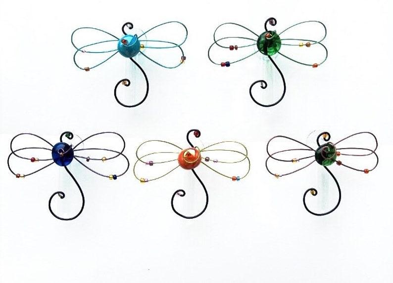 Dragonfly Gift Propagation Glass Tube Vase Gift for gardener image 0