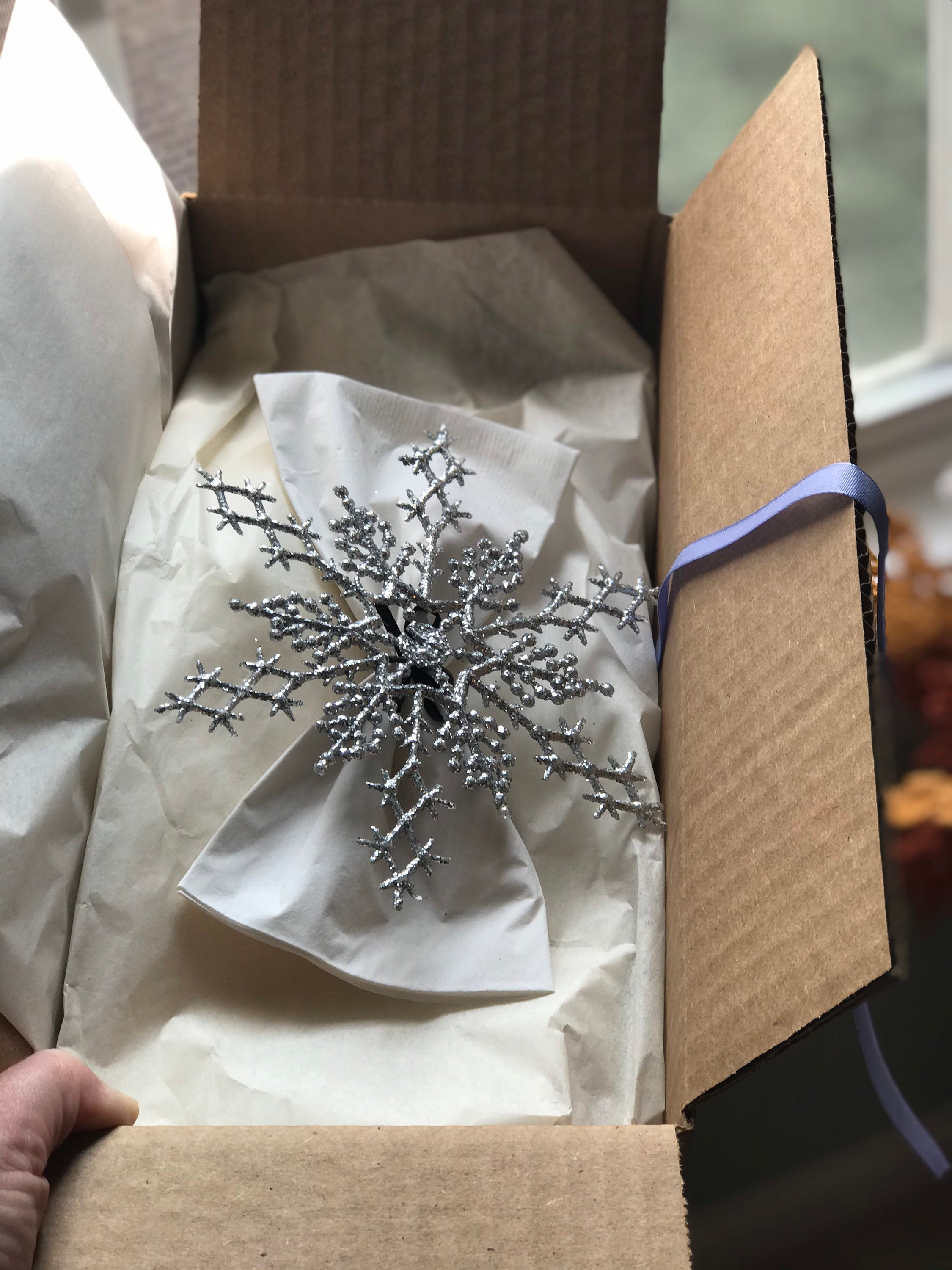 Large Sparkly Silver Snowflake Winter Wonderland Napkin Ring For Frozen Party Christmas Or New Years Table