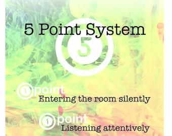 5 Point Poster: Art or Specials behavior Management
