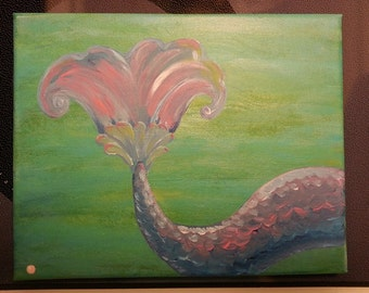 BIG SALE over 50% off. Mermaid Painting