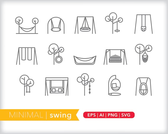 Swing Line Icons Park Icons Eps Ai Png Digital Download Etsy