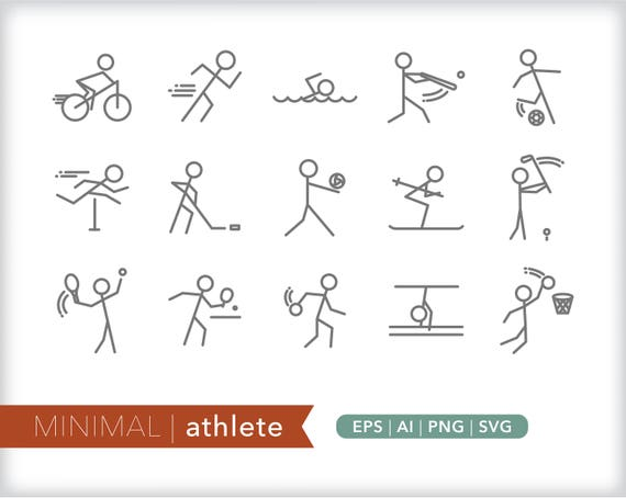 Minimal Athlete Line Icons