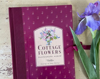 Cottage Flowers Photograph Album Victoria Ave Paper Co Vintage 1990s Victoriana Ephemera