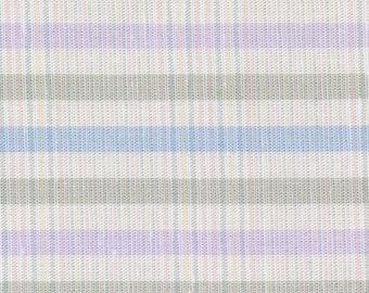 Cotton fabric, Gabardine, Pastel plaid, Decor fabric, Lavender fabric, blue fabric, gray fabric