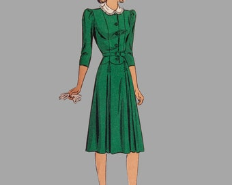 Vintage Du Barry Dress Pattern 2555B Misses' One Piece Dress Bust 30 FF Uncut
