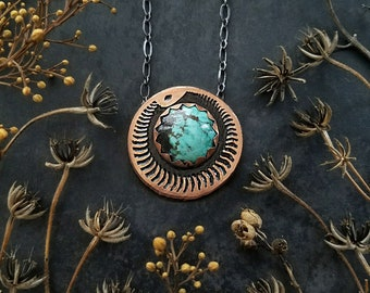 Ouroboros Necklace with Turquoise