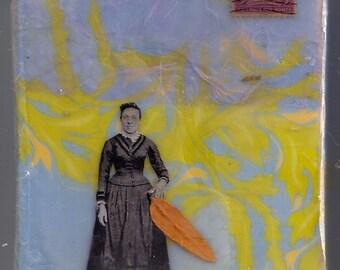 Original Encaustic mixed media painting