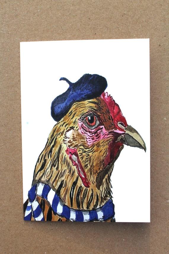 Pork Hill Farm Chickens Notecards Set of 4