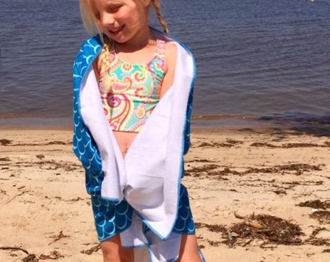 Mermaid blue beach blanket lets be mermaids girls mermaid beach towel Outer Banks vacation mermaid picnic Beach wedding BeachHouseDreamsHome