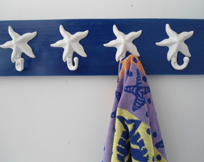 beach towel rack starfish hot tub towels swimming pool towel rack outdoor shower cottage coastal living nautical bath towels BeachHouseDream
