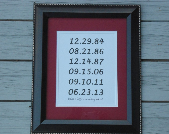 Custom gift mom dad family sign wedding dates anniversary birthday new home first apartment housewarming Christmas BeachHouseDreamsHome OBX