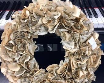 Valentines day vintage music wreath music lover musician professor minister choir director piano teacher birthday office BeachHouseDreamsOBX