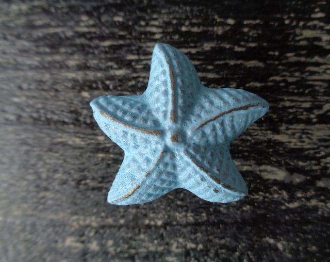 Starfish knob beach furniture drawer pull nautical cottage restoration decorating interior design cabinet knobs dresser BeachHouseDreams OBX