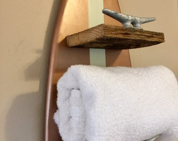 surf board towel rack nautical coastal decor bathroom towels outdoor surfer beach towels shower pool outside hottub cottage BeachHouseDreams