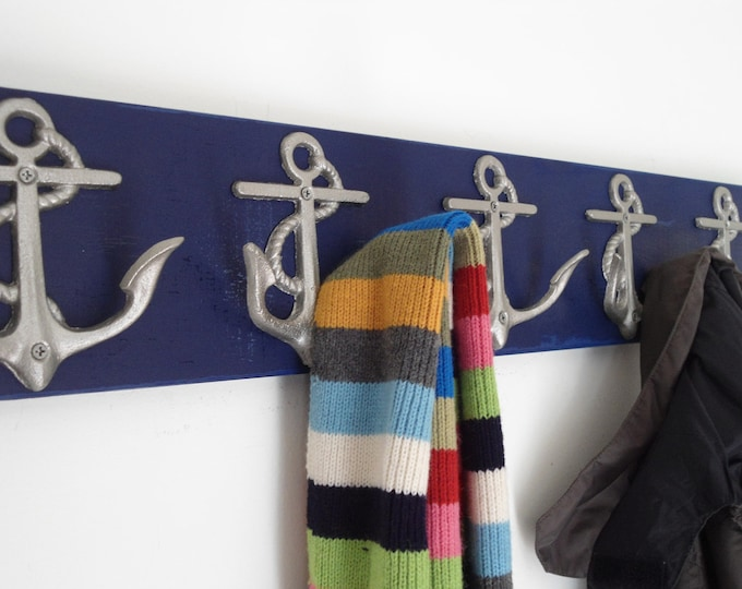 5 Anchor coat rack as seen on houzz.com foyer hall tree Beach House Dreams™ OBX interior design lake pool hot tub shower cottage renovation