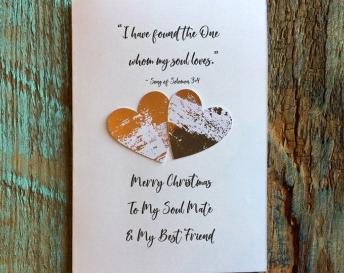 I have found the one my soul loves rose gold partner soulmate husband wife fiance fiancee engagment Christmas card print BeachHouseDreams