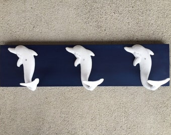 dophin towel rack beach towel hooks Beach house dreams pool mud room hot tub beach home decor coastal living