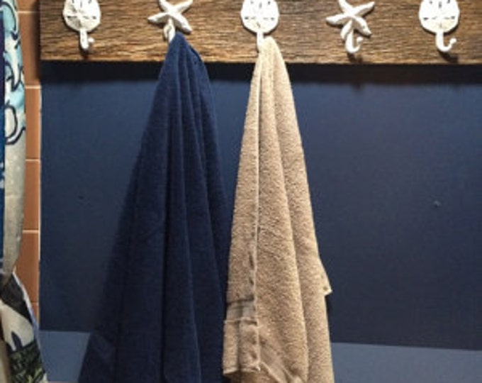 farmhouse coastal barn wood entry coat rack as seen on best-deal.com bath towel foyer design hall tree coats mudroom shower tub Outer Banks