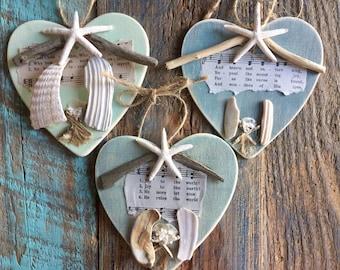 20 beach wedding favors FREE SHIPPING hostess Christian leader church retreat seashell ornament corporate family reunion BeachHouseDreamsOBX