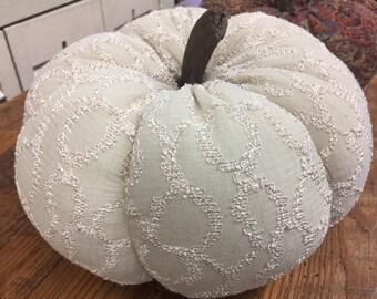 sweater fabric pumpkin Ready to Ship coastal farmhouse fall autumn centerpiece OBX thanksgiving harvest housewarming entertaining hostess