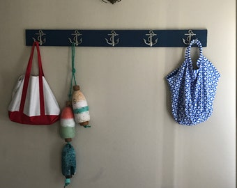 anchor coat rack hall tree as seen on Houzz Beach House Dreams™ foyer bathroom outdoor shower pool hot tub renovation design Outer Banks OBX