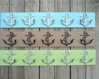anchor wood towel rack mud room hot tub hooks beach towel rack pool hot tub wall hooks entry hall tree hooks nursery BeachHouseDreamsHomeOBX