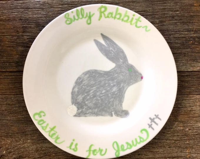 Easter plate bunny rabbit dish hostess gift spring break beach wedding bff religious cross Beach House Dreams Home OBX Outer Banks vacation