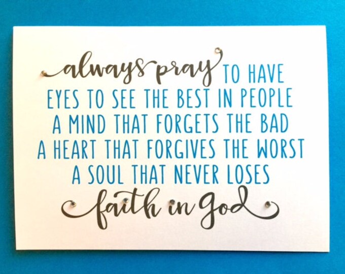 Pray recovery encouragement card 5 x 7 print bestseller card faith in God friend bff partner wife husband encouragement BeachHouseDreams OBX
