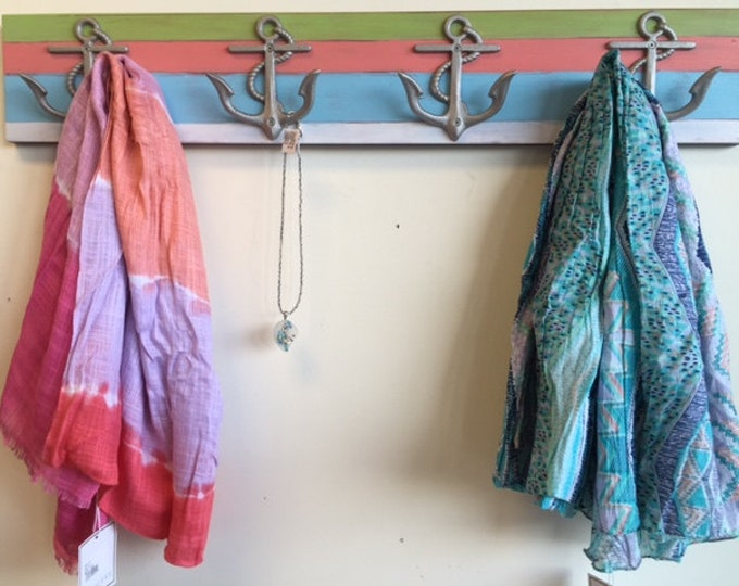Outdoor towel rack 4 anchors beach house mudroom shower bathroom lake house beach cottage nursery BeachHouseDreamsHome Outer Banks OBX