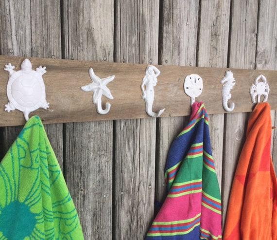 3 5 Hook Outdoor Towel Racks Outside Shower Swimming Pool Etsy