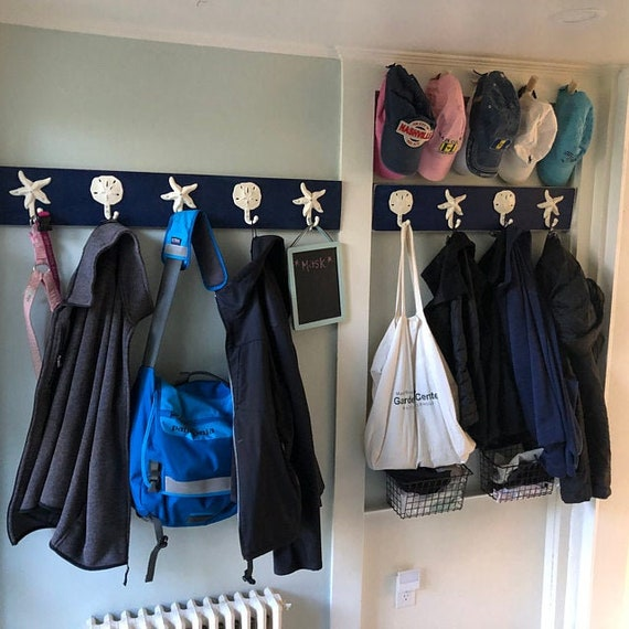 Nautical beach hall tree Beach House Dreams foyer coat rack cottage renovation outdoor shower pool design coastal wall hooks Outer Banks OBX