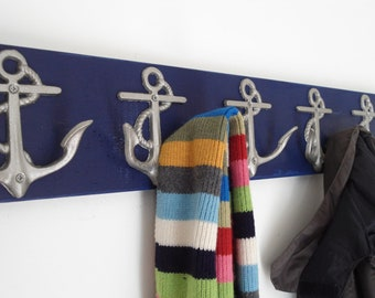 5 Anchor coat rack as seen on houzz.com Beach House Dreams™ OBX interior design bath towel coastal decor cottage renovation mancave organize