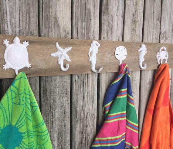 Outdoor Pool Towel Rack Lake Cottage River Cabin Coat Rack Etsy