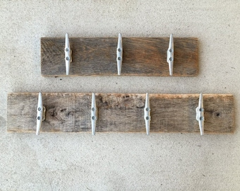rustic farmhouse towel rack boat cleat hooks eco friendly foyer mudroom pool towels hot tub lake cottage shower Beach House Dreams Home OBX