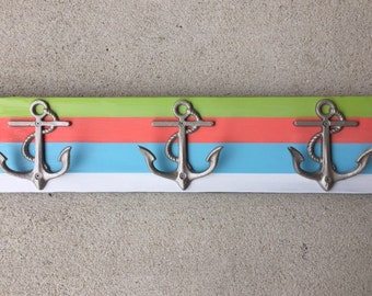 extra long beach towel rack striped coral anchors beachhousedreamshome outdoor shower cottage pool hot tub renovation wedding